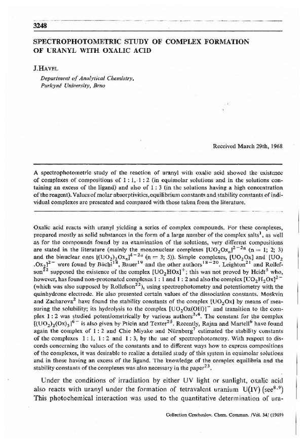 CCCC 1969, Volume 34, Issue 11, Abstracts pp  3248-3265 | Collection