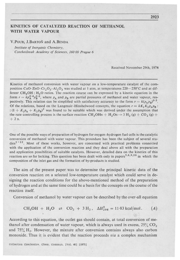 Cccc 1975 Volume 40 Issue 10 Abstracts Pp 2923 2934